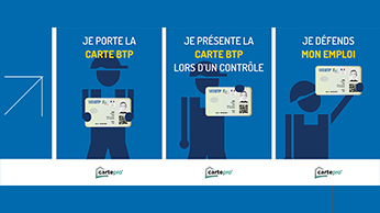 Carte BTP : attention, port obligatoire sur les chantiers
