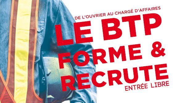 Le BTP forme et recrute : 1er forum BTP le 4 avril
